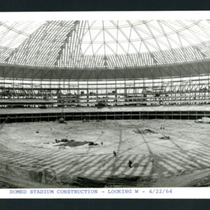 Photograph, Stadium Construction Looking West
