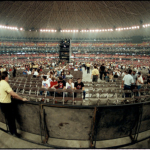Astrodome filling up before the Rolling Stones concert<br /><br />