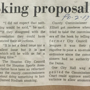 No-smoking proposal rejected