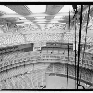 Photograph, Astrodome, View From Cupola Into Lamella Roof Truss And Seating Levels Below