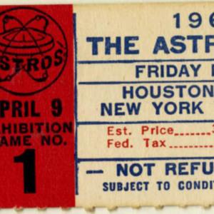 Ticket, Astros vs. Yankees