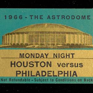 Ticket, Houston vs. Philadelphia