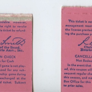 Tickets to the Opening Day Game at the Astrodome