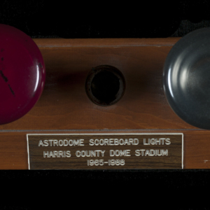 ASTRODOME Scoreboard Lights 1965-1988 (red and green)<br /><br />