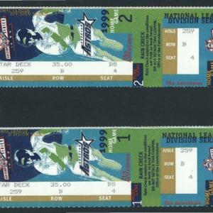 Tickets, Rain Check for Games 1 and 2 of the National League Division Series