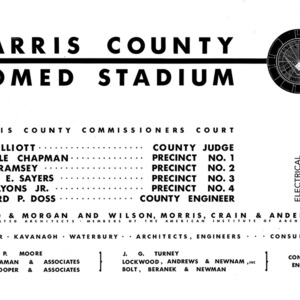 Electrical Drawings, Harris County Sports Stadium