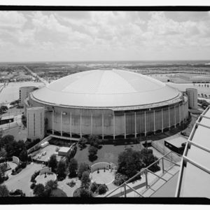 Photograph, Astrodome, Astrodome Looking East From Rooftop Of Adjacent Reliant Stadium (New NFL/Rodeo Stadium)
