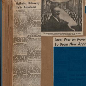 "Scrapbook Belonging to E. A. ""Squatty"" Lyons, Volume 9, December 1967 to June 1970"