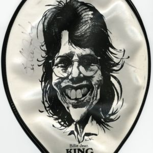 Tennis Racket Cover from the Battle of the Sexes Tennis Match