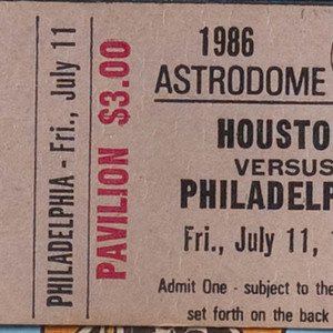 Ticket, Astros vs. Phillies