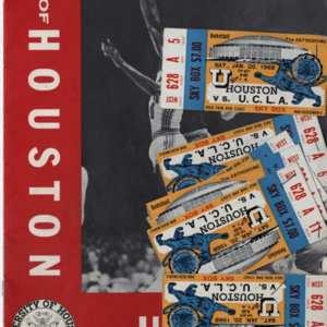 Cover, Souvenir Program, University of Houston vs. University of California Los Angeles College Basketball Game