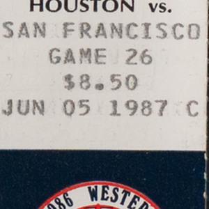 Ticket, Astros vs. Giants