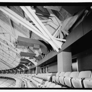 Photograph, Astrodome, Steel Truss Tension Ring Supporting Dome Roof