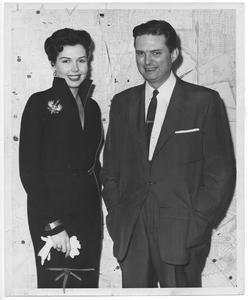Photograph, Actress Ann Miller Welcomed to Houston by Mayor Roy Hofheinz